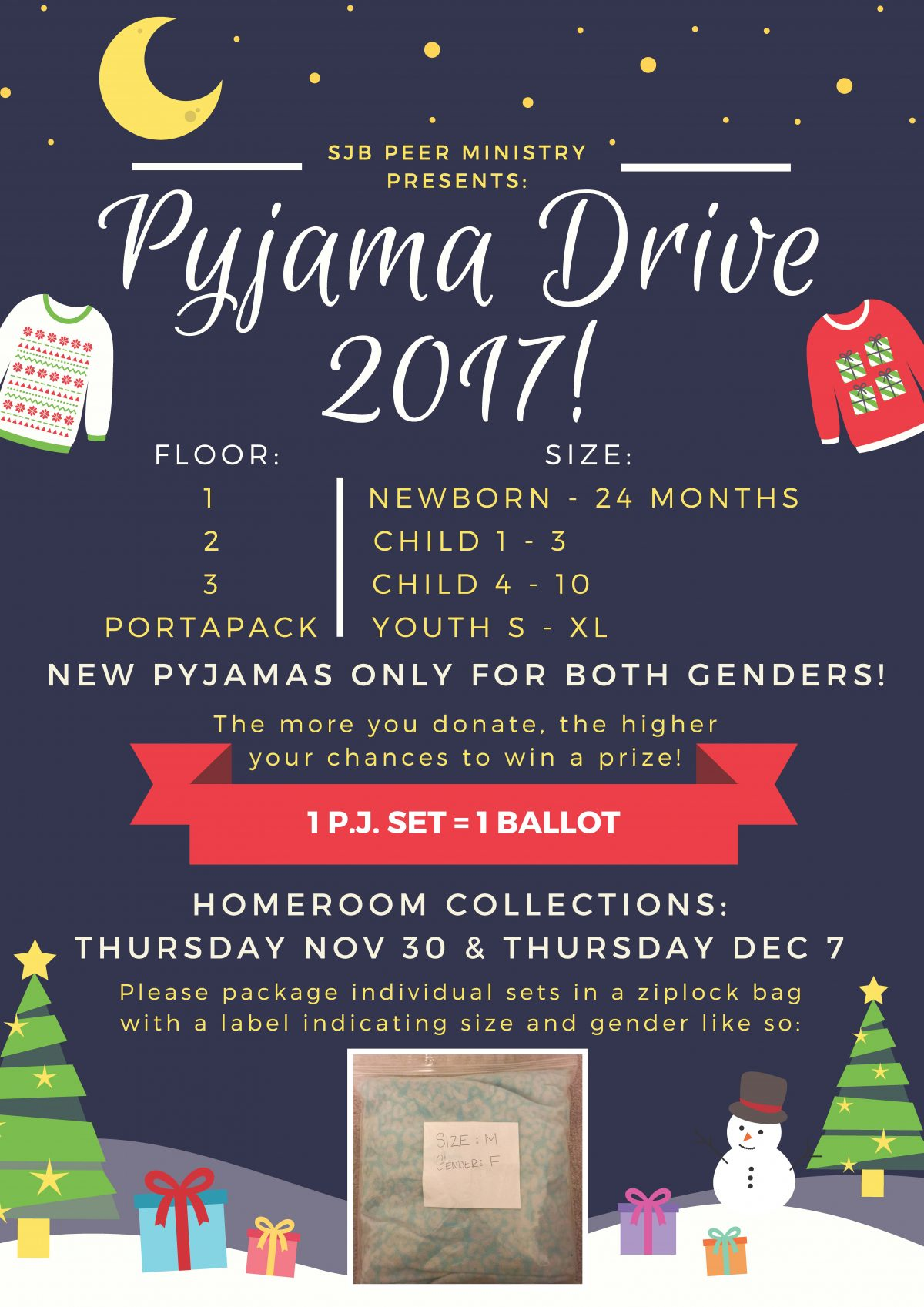 Peer Ministry kicking off the 2017 Pyjama Drive