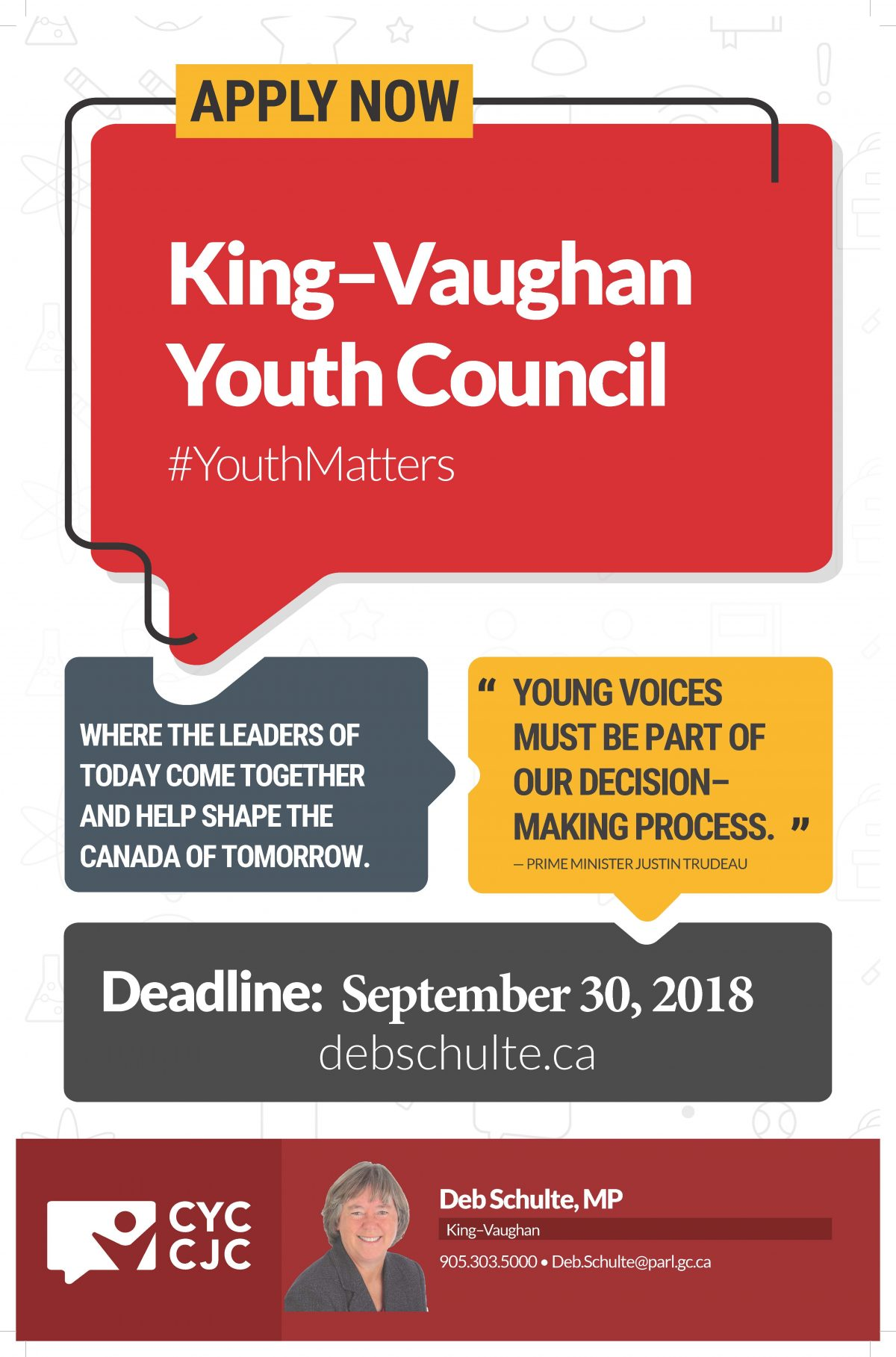 APPLY NOW…King–Vaughan Youth Council