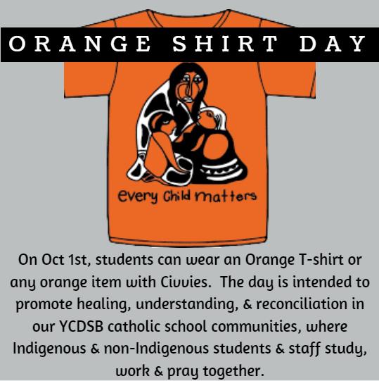 Orange Shirt Day – Oct 1st