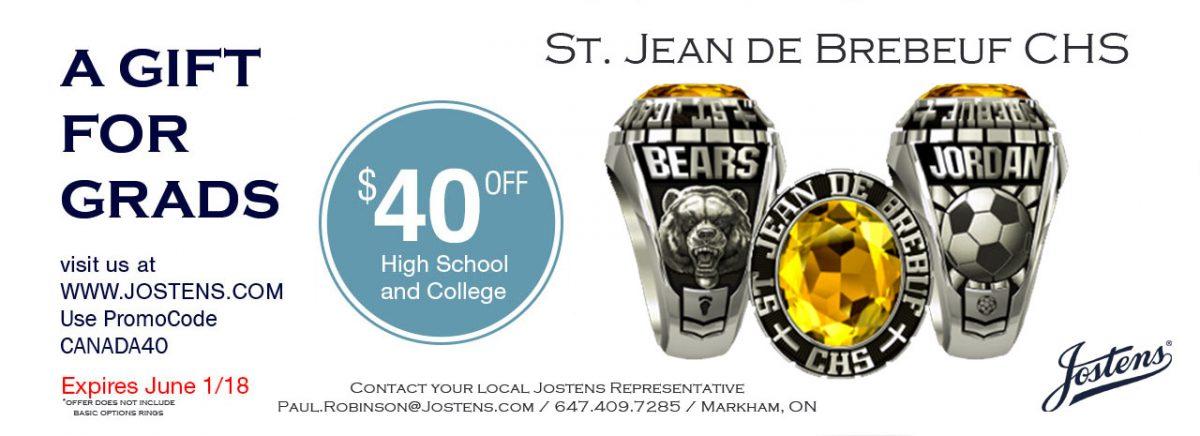 Jostens Rings $40 discount