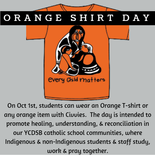 Orange Shirt Day – Oct 1st