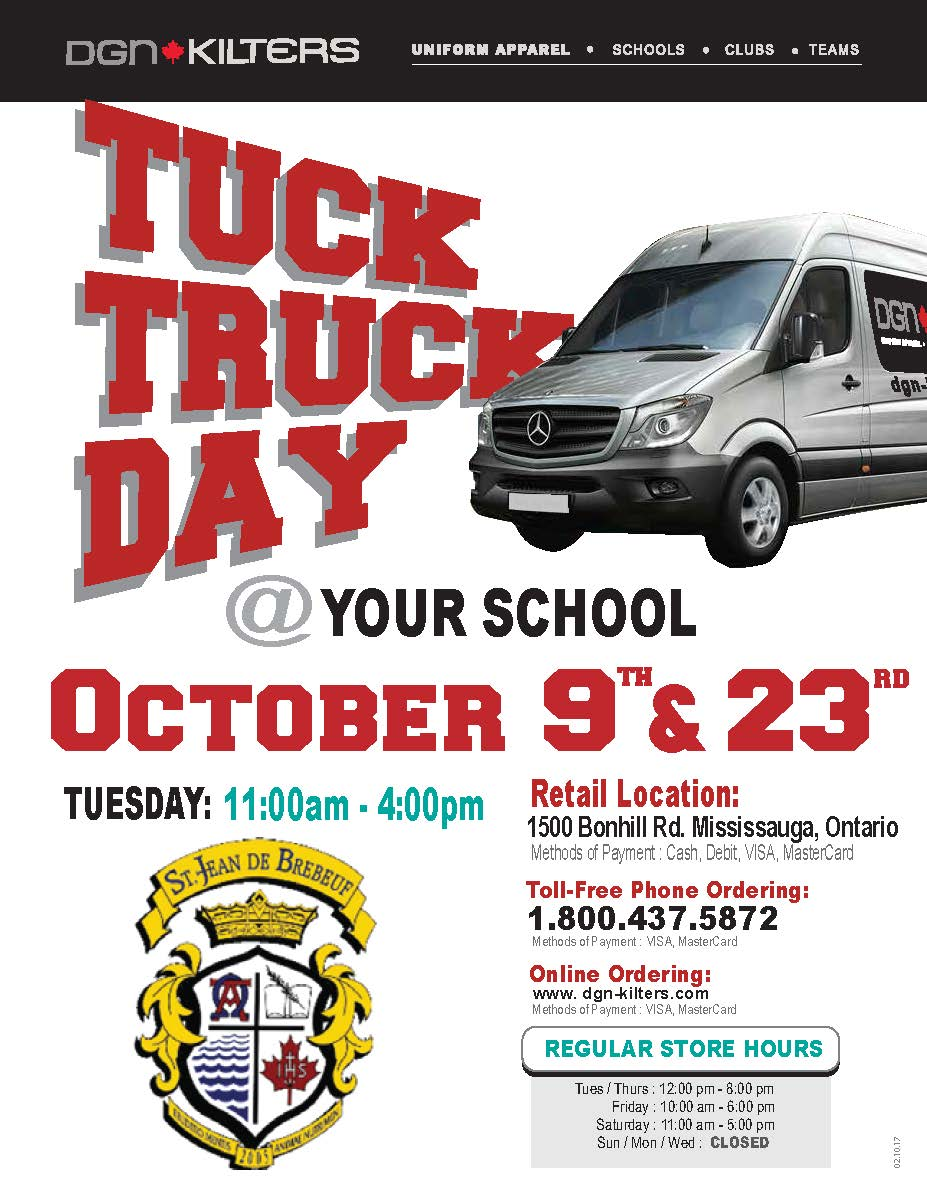 DGN Uniform Tuck Truck Oct 9 & 23