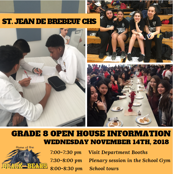 GRADE 8 OPEN HOUSE INFORMATION FOR PARENTS