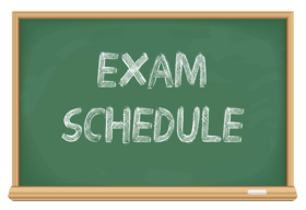 Exam Schedule – January 2019