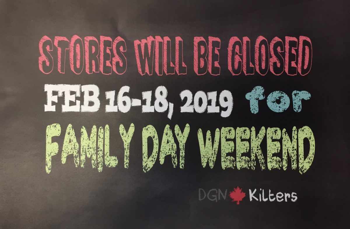 DGN Kilters Closed Family Day