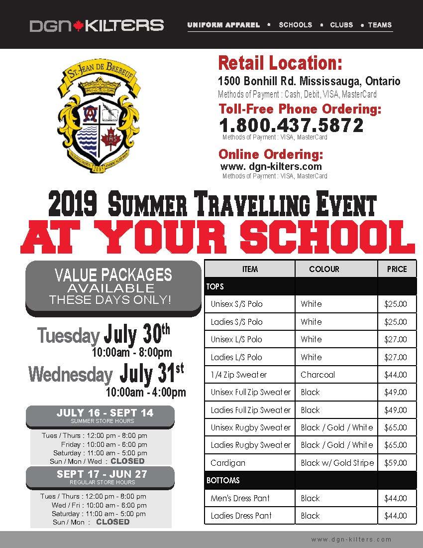 DGN Uniform Summer Travelling Event