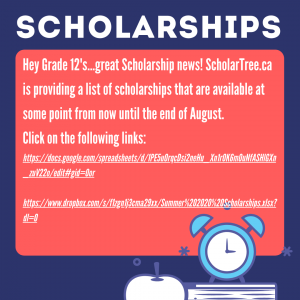 Great news!!! Scholarship Info